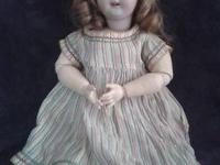 Late 19th/early 20th Century German Bisque Doll She's