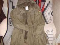 German Army Parka, With Fleece Liner, Size: Medium