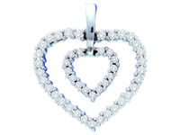 GET 0.50 CTW DIAMOND HEART PENDANT, Save when you go