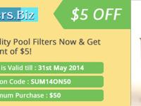 Poolfilters.biz is providing a discount of 5$ on a