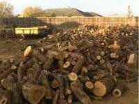Oak firewood. This firewood is split and 2-4 inch