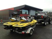 SET OF LOW HOURS 2ND OWNER, 2002 JET SKIS ON A VERY