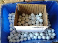 Practice balls 20 cents each: All white and cleaned;