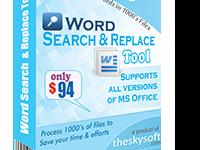 Word Search & Replace tool has been purposely developed