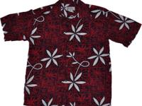 This Hawaiian shirt is a replica of the red shirt