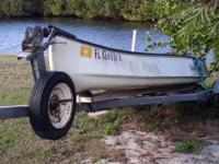 Just under 14 ft Gheenoe with trailer inclusive of