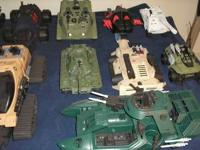 For SALE is a LOT of 24 GI JOE VIHICLES , ALL in GREAT
