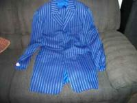 I have a used blue suit with white stripes. its called