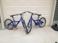 2 used Giant MTX 225 bikes, 24 inch wheels. Rugged