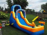 This is a giant blow up slide. Brand new was $400.00.