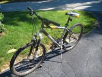 Used 2002 21 Speed Men's Giant Boulder SE bike in gray