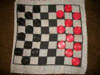This giant checker board is 2X2 in size checkers are