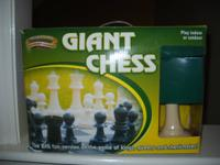 Giant chess set hardly ever used.  Like new except for