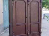Large ornate armoire from the Victorian period, classic