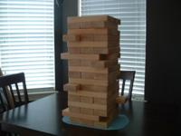 Gaint Jenga & Jenga game rules . The Game includes 54 -