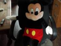 Giant size Mickey Mouse Plush Toy. Stands approx 42
