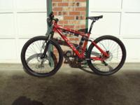 Model NRS Dual Suspension mountain bike. Rockshox