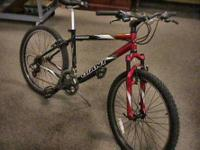 Giant Mountain Bike Bicycle -- Has a Bent rear Rim,
