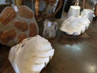 "GIANT!! Pair of South Sea Clam Shells 38"" Across $4500"