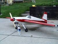 "Giant scale 87 "" wing span Laser. Built up fuselage and"