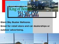 Giant Sky Buster Balloon. Great for retail store and