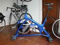 A professional quality spinning bike. This bike, unlike