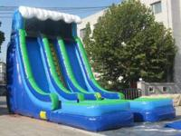 Giant water slide for sale 22 ft high slide height.