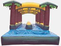 GIANT TROPICAL DUAL LANE WATERSLIDE FOR RENT. 47 FEET