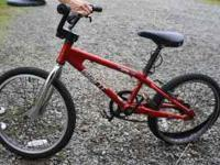 Red Giant BMX bike for sale, great bike has back flat