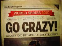 Set of Four Mercury News Frontpage and Giants Special
