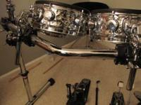 "I have a Gibraltar drum rack with the 44"" V bar on the"