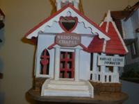 These decorative birdhouses can be clearcoated and be
