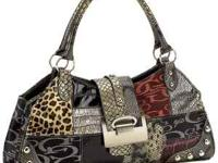 Gigi Chantal Large Jacquard Patchwork Purse Features