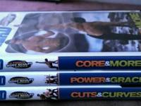 Get fit with these 3 DVDs:  -Core & More -Cuts &