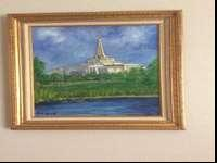 This is the original painting of a temple that I just