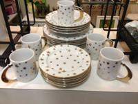Gilt Celestial Set of Dinnerware. Pretty and