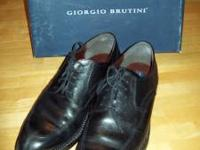 Giorgio Brutini Men's Black Dress Shoes - Size 11.5 D.
