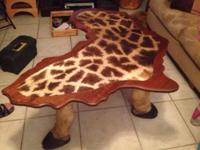 custom-made giraffe furniture from Africa. A senior