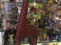 "Giraffe on Wheels 21"" Tall $48. Dealership # 282. Lula"