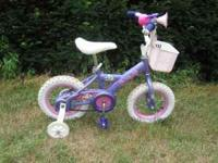 Good condition girl's purple disney princess bike.