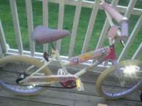 I am selling a little girls bicylce..It has pink and