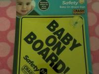 Baby on board sign. New in package. $2 Nursery hanging