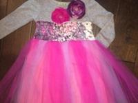Fun party dress for little girls Size 6 month to 12