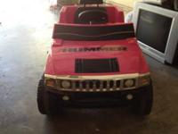 Girl's Pink Hummer- Power Wheels Great for ages from 2