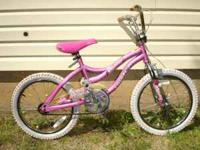 "USED 18"" GIRL'S NEXT ""MISTY"" BIKE CHROME RIMS AND"