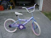 Huffy Go Girl 20 inch bicycle for $20. Has some