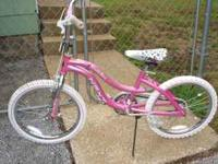 "LIKE NEW girl's 20"" Next ""Slumber Party"" bicycle pink,"