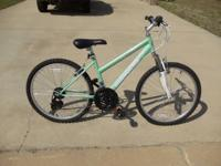 Girls Roadmaster 18-speed bike. Seafoam green. Like
