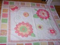 Pretty bedding set includes two full size coverlets