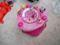 Pink Evenflo saucer for sale for $30. Call Jen @  if